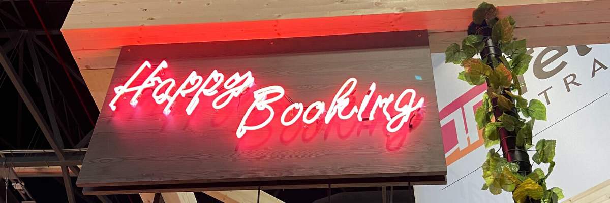 FITUR 2020-Happy booking-neon sign